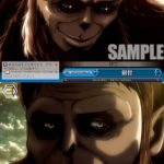 叡智 獣の巨人(ヴァイスシュヴァルツ「ブースターパック 進撃の巨人 Vol.2」収録クライマックスレアCR)