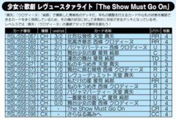 「The Show Must Go On」デッキ:少女☆歌劇 レヴュースタァライト公式デッキレシピ