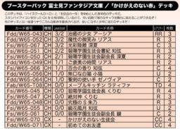 かけがえのない赤デッキ:WS「富士見ファンタジア文庫」公式デッキレシピ