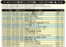 ハチャメチャな黄・緑デッキ:WS「富士見ファンタジア文庫」公式デッキレシピ