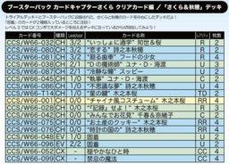 さくら&秋穂デッキ:WS「カードキャプターさくら クリアカード編」公式デッキレシピ