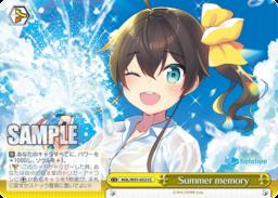 Summer memory 夏色まつり・クライマックス(WS「BP ホロライブプロダクション」収録)