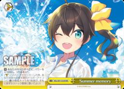 Summer memory 夏色まつり・クライマックス:トリプルレアRRRパラレル(WS「BP ホロライブプロダクション」収録)